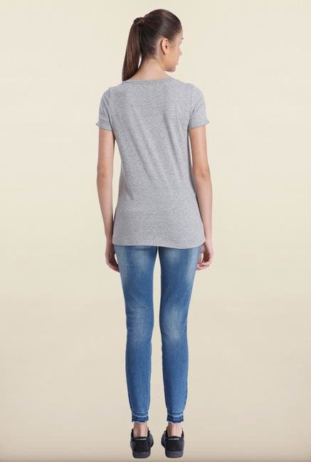 Only Light Grey Printed T-Shirt