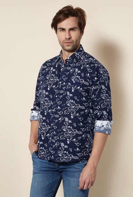 Killer Navy Floral Casual Shirt