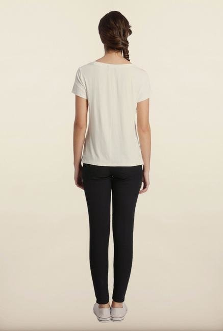Only White Solid T-Shirt