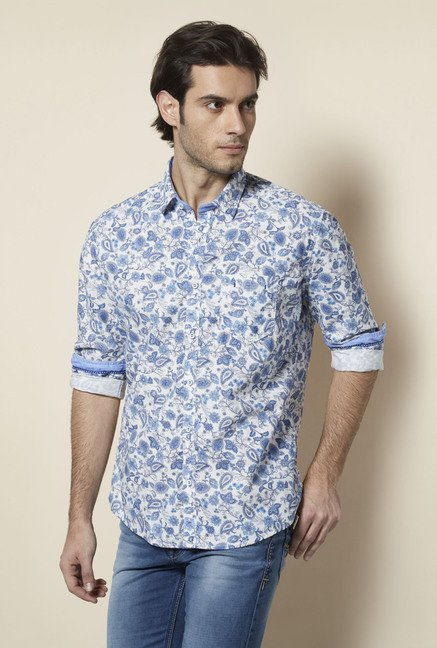 Killer Blue Floral Casual Shirt
