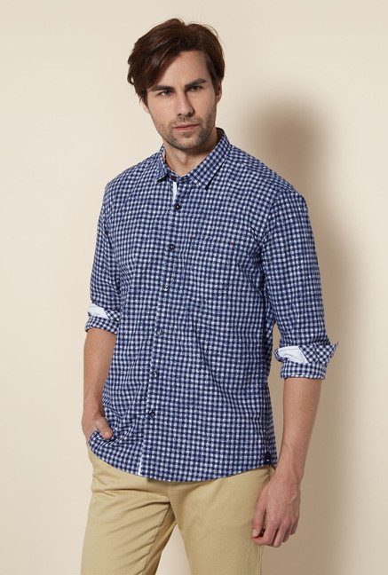 Killer Navy Checked Casual Shirt