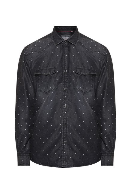 Killer Black Slim Fit Casual Shirt