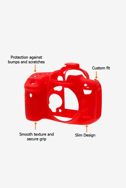EasyCover Camera Case for Canon 7D Mark II Red