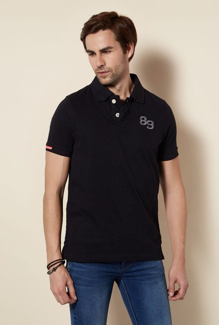 Killer Black Polo Neck T Shirt