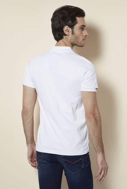 Killer White Polo Neck T Shirt