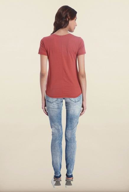 Only Marsala Printed T-Shirt