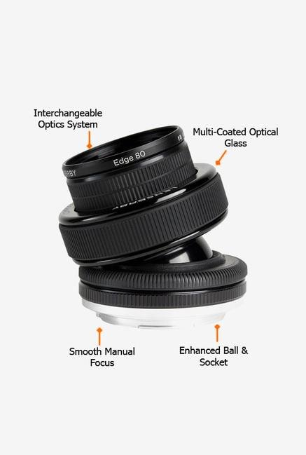 Lensbaby Composer Pro with Edge 80 Optic for Canon Black