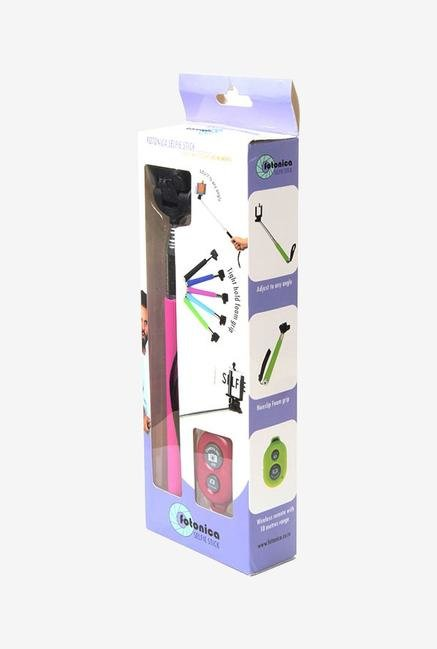 Fotonica Selfie Stick Pink with Bluetooth Remote