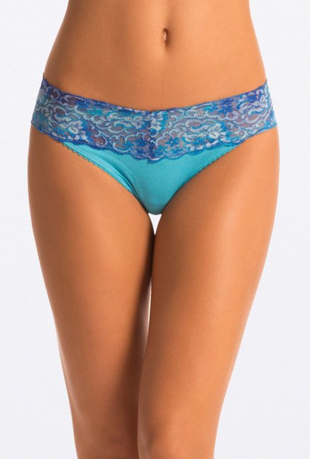 Pretty Secrets Yellow & Blue Thong Panties (Pack Of 2)