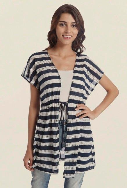 Only Navy & White Striped Cardigan