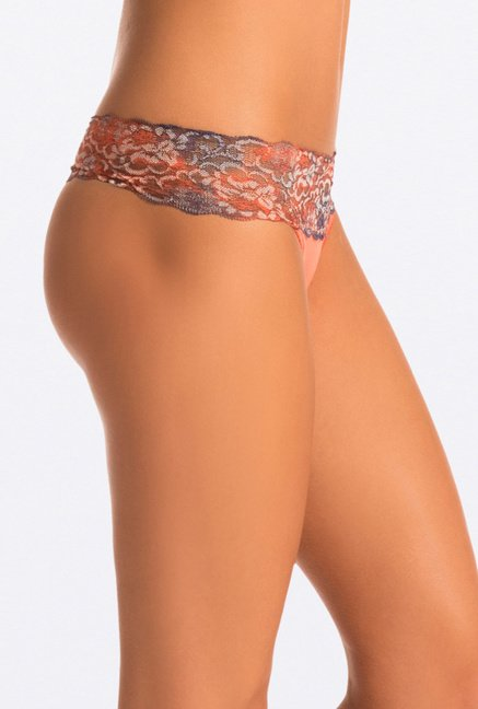 Pretty Secrets Tie & Dye Thong Panties (Purple,Orange,Black)