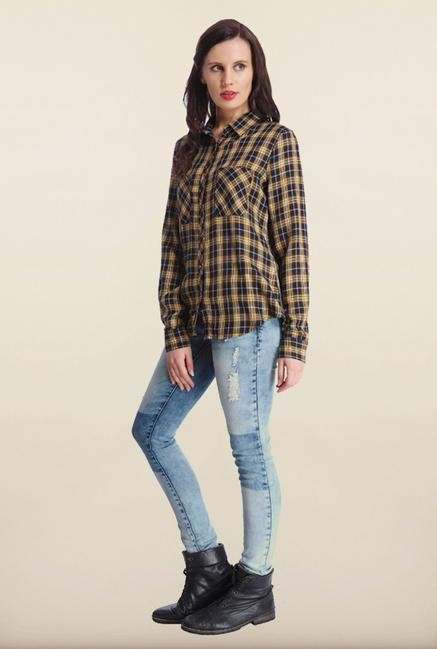 Only Multicolor Checked Casual Shirt