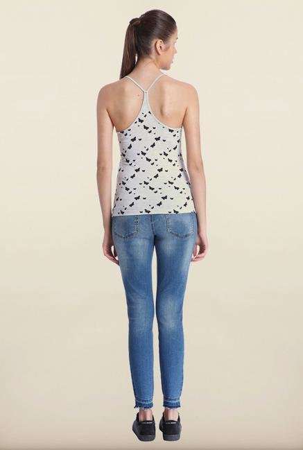 Only Light Grey Printed Top
