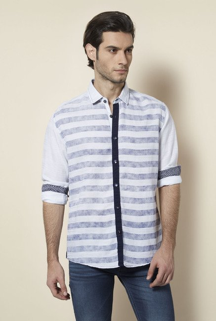 Killer White Striped Casual Shirt