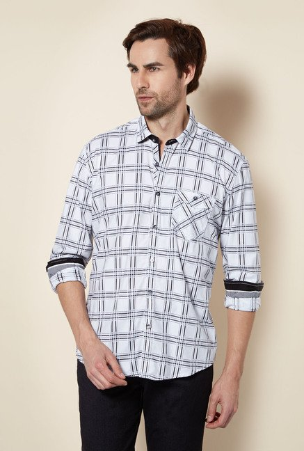 Killer White Checked Casual Shirt
