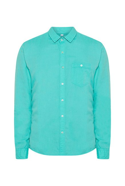 Killer Turquoise Slim Fit Casual Shirt