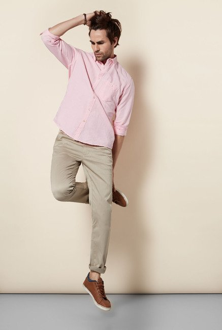 Killer Pink Slim Fit Casual Shirt