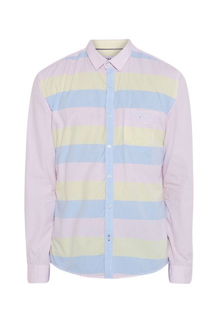 Killer Pink Striped Casual Shirt