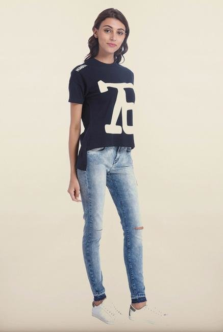 Only Navy Printed T-Shirt
