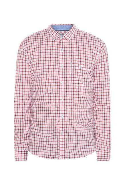 Killer Red Checked Casual Shirt