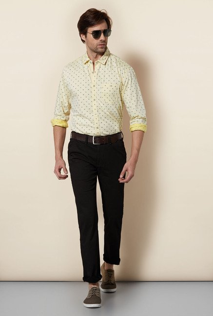 Killer Yellow Printed Casual Shirt
