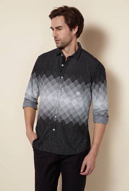 Killer Black Polka Casual Shirt