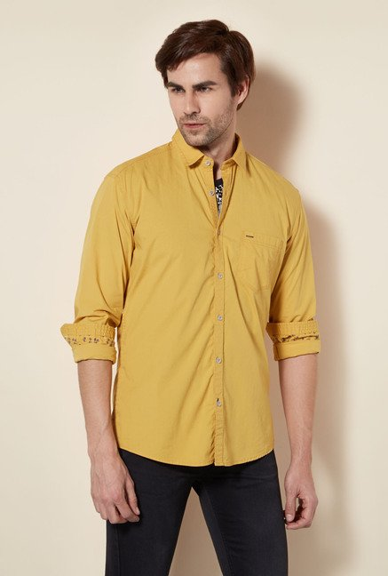 Killer Beige Slim Fit Casual Shirt
