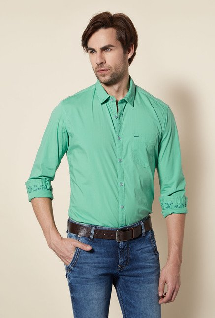Killer Green Slim Fit Casual Shirt
