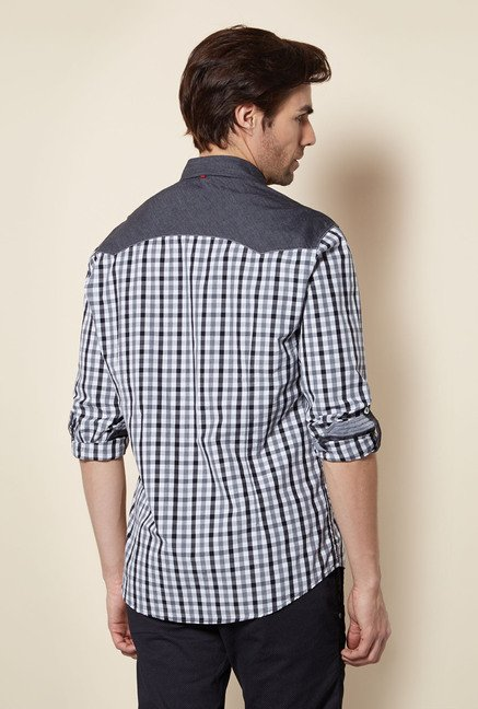 Killer Black Checked Casual Shirt