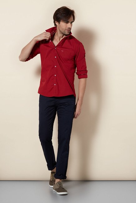 Killer Red Slim Fit Casual Shirt