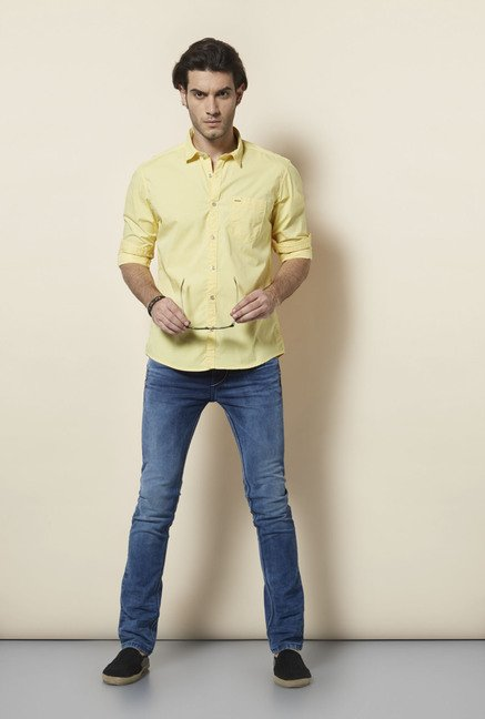 Killer Yellow Slim Fit Casual Shirt
