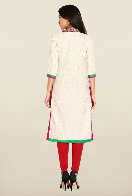 Soch Cream & Gold Embroidered Kurta