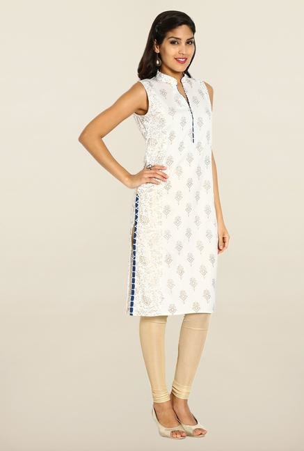 Soch Cream & Gold Cotton Kurta