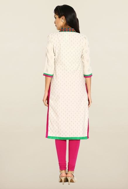 Soch Cream & Gold Khadi Kurta