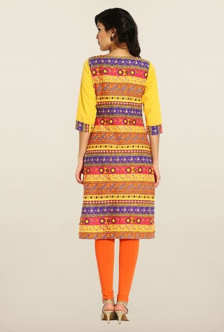 Soch Multicolor Cotton Printed Kurta