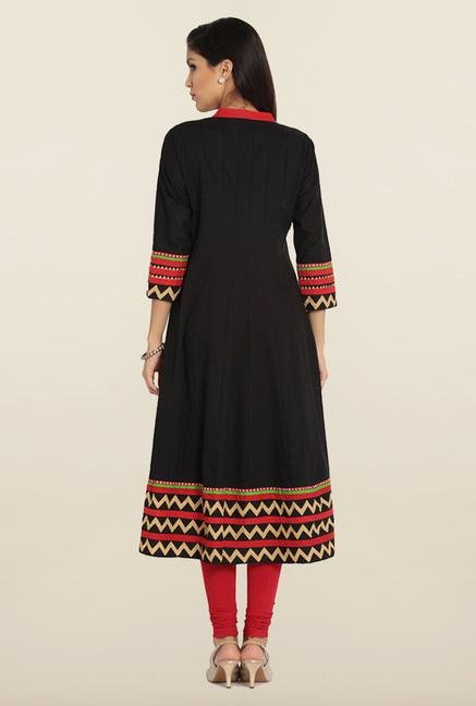 Soch Black Printed Anarkali Kurta
