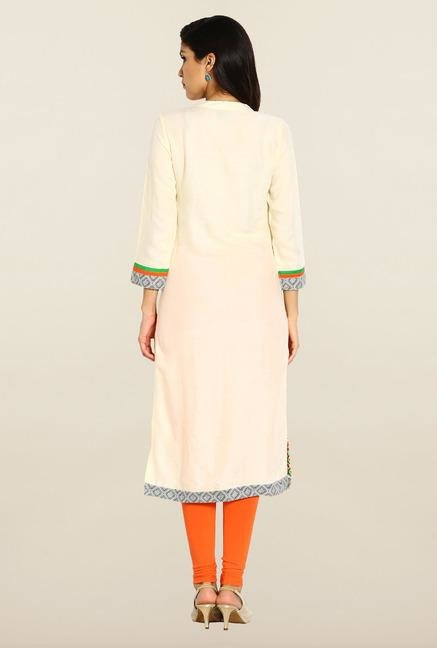 Soch Cream Embroidered Kurta