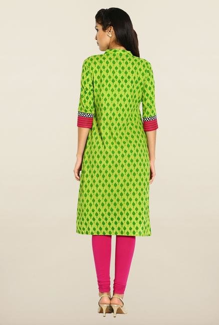 Soch Green Cotton Kurta