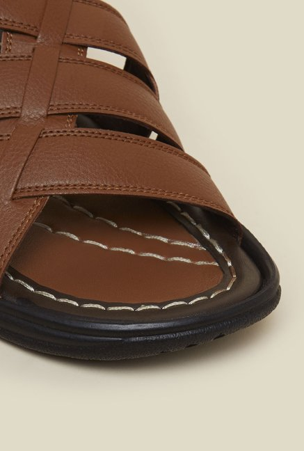 Franco Leone Tan Leather Thongs