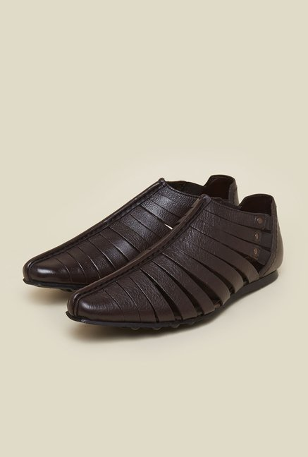 Franco Leone Brown Leather Sandals