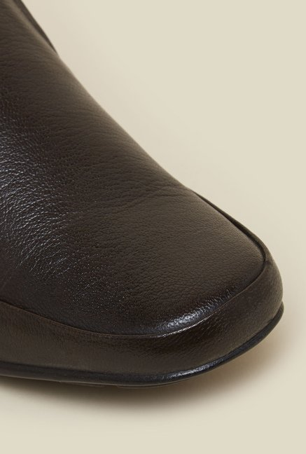 Franco Leone Brown Leather Formal Shoes