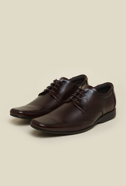 Franco Leone Tan Leather Formal Shoes