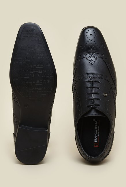 Franco Leone Black Leather Shoes