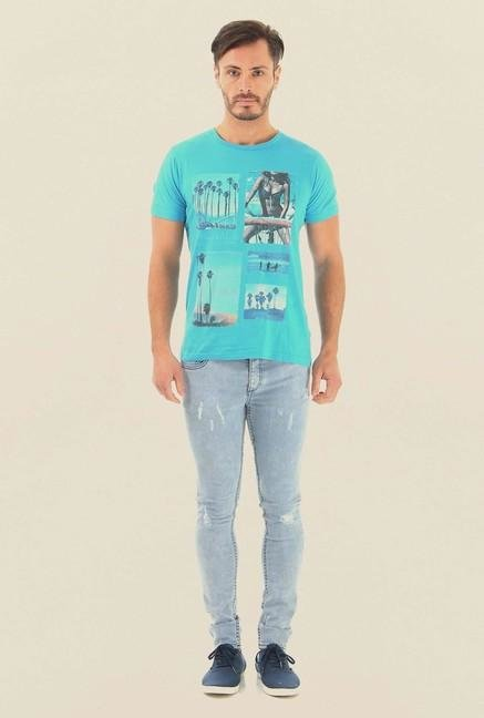 Jack & Jones Blue Rinse Washed Jeans