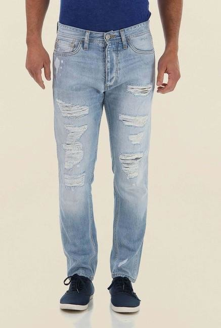 Jack & Jones Light Blue Distressed Jeans