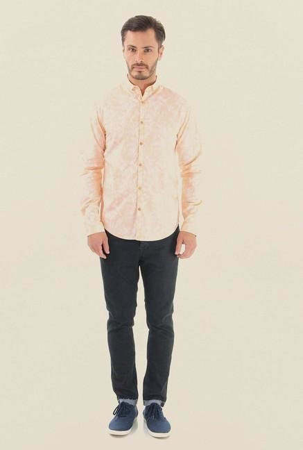 Jack & Jones Peach Printed Casual Shirt