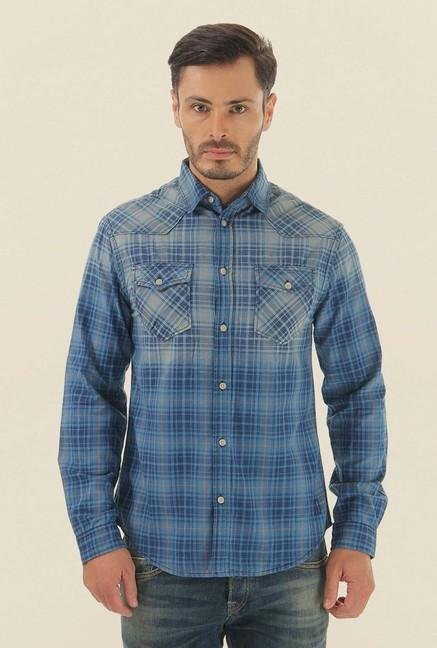 Jack & Jones Blue Checks Casual Shirt