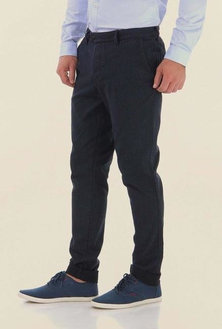 Jack & Jones Blue Cotton Trouser