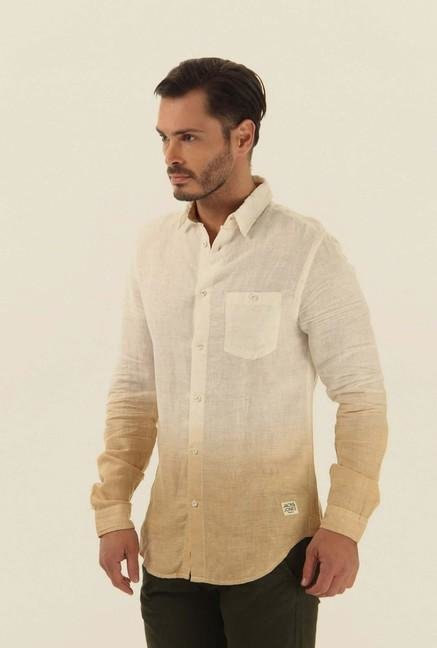 Jack & Jones Beige Ombre Casual Shirt