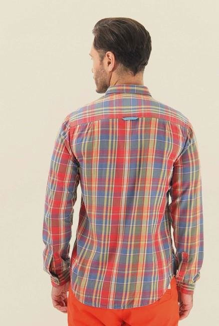 Jack & Jones Multicolor Checks Cotton Shirt